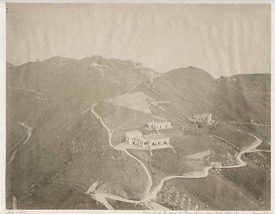 c.1880's PHOTO CHINA HONG KONG OFFICES AND MERCHANTS BUNGALOWS 1800 FT UP PEAK