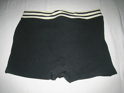 Vtg 1930's/40's Navy White Nylon Swim Suit Boys Mens Beefcake Trunks Shorts SM
