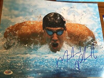 Michael Phelps Signed 11x14 Photo PSA/DNA Team USA Gold