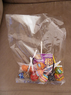 100 Polyprop cello bags 230mm x 170mm card, craft, lolly party bag