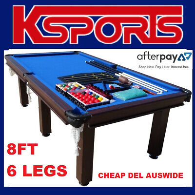 Pool Table 8Ft Pub Size Snooker Billiard Table Blue With Free Accessories Kit