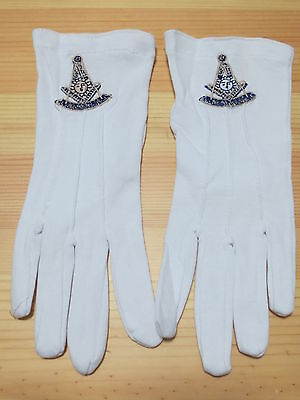 Hot sell  Masonic Gloves Customized  Embroidery G5