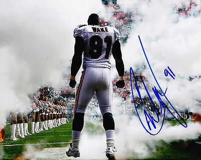 CAMERON WAKE  MIAMI DOLPHINS    ACTION SIGNED 8x10