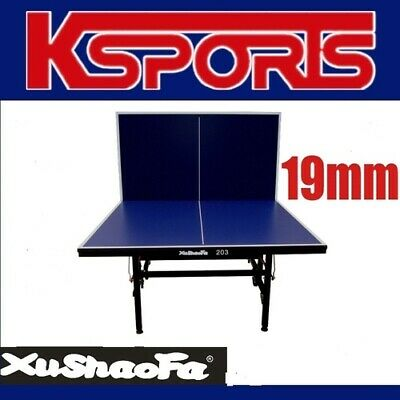 XuShaoFa 19mm Table Tennis Table Ping Pong Table Professional Size - ITTF APPROV