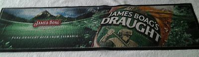 Rubber backed bar mat  -  James Boags Draught