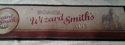 Rubber backed bar mat  -  Boags Wizard Smith Ale