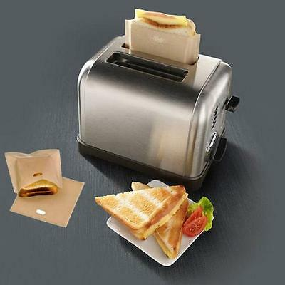 Reusable Non-Stick Toaster Bag Oven Grill Panini Pizza Sandwich Cook Bag 1 Size