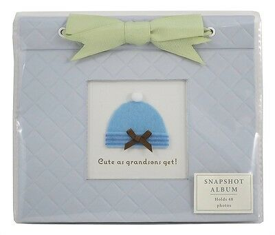 "Hallmark ""Cute as Grandsons Get"" Blue Snapshot Photo Album - Holds 48 Photos 4x6"