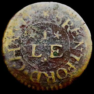 S548: 1660's Farthing - LVKE IVORY, Brentford.  Middx.17 - old collection piece