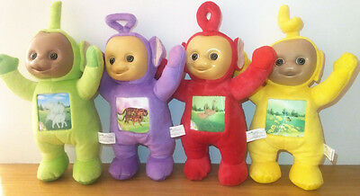 New 4pcs Teletubbies Set Po Dispy Laa Laa Tinky Winky Plush Toy Dolls Kids Gift