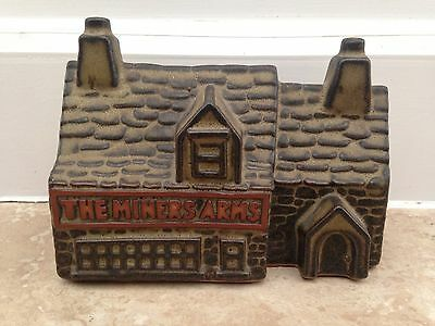 """Tremar pottery """"The Miners Arms"""" money box Stone Ware Coal Miners"""