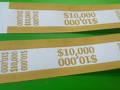 25 Gold- $10,000 Self-Sealing Currency Straps/bands