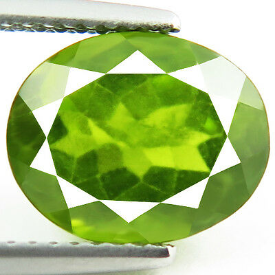 4.53ct EYE CLEAN NATURAL EARTH MINED RARE AAA GREEN HYDROGROSSULAR GARNET RUSSIA