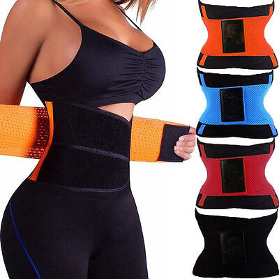 Women Waist Cincher Girdle Belt Body Shaper Tummy Trainer Training Corset Wrap @