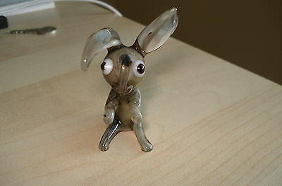 Murano Glass Collectable Miniature Rabbit Figure Hand Made Approx 8Cm