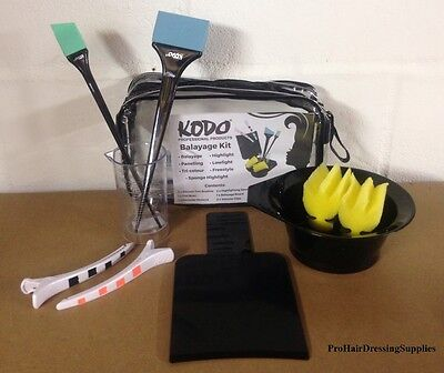 KODO Professional BALAYAGE Ombre KIT -  Board Brushes Sponges Clips Jug Bowl