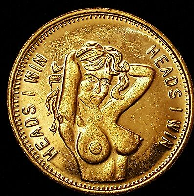 Heads I Win - Tails You Lose - Silver/ Gold  Tokens. Adult Humour