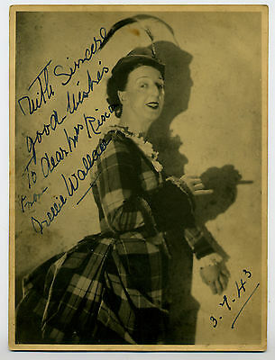 Nellie Wallace, Actress Theatre, Signed Vintage 8 X 6 Inch  Photo Rare