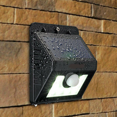 Outdoor Solar Power Motion Sensor Garden Floodlight 8 LED PIR Security Light