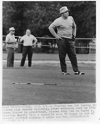 Golf Photograph Golf Bob Murphy After Hitting Into Grandstand Wethersfield