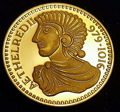 Stephen Gold Gilt Silver Coin - Our Royal Sovereigns - Danbury Mint