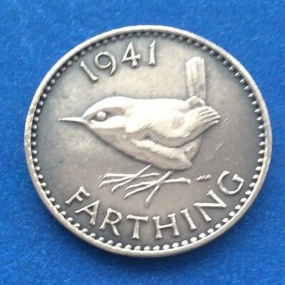 1941 King George Vi Farthing (Quarter Of A Penny) Coin