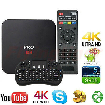 MXQ PRO S905 Smart TV BOX Android Quad Core 8G 4K Media With Keyboard