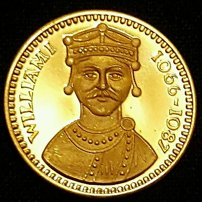 William I Gold Gilt Silver Coin - Our Royal Sovereigns - Danbury Mint