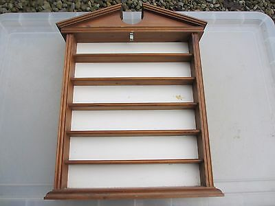 Wooden Display Rack Shelving Shelf Shelve Tower Small Collectibles Temple Design