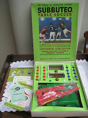 Vintage 1970's Boxed Subbuteo Table Soccer Club Edition
