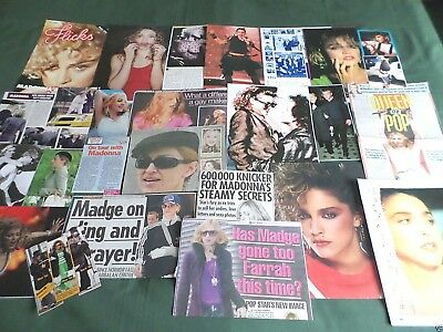 "Madonna - Music/ Film Star - ""  Clippings /cuttings Pack """