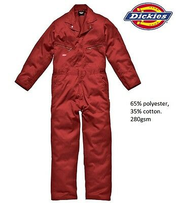Mens Dickies Zip 280G Heavy Duty Work Coverall Mechanic Overalls Boilersuit Size