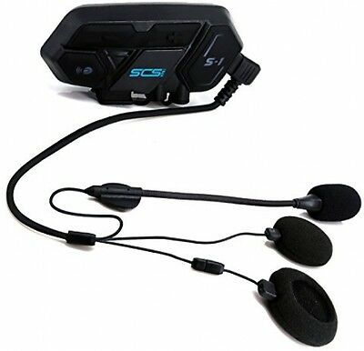 SCS ETC Motorcycle Bluetooth Headset Speakers Support Multiplayer Intercom Mode