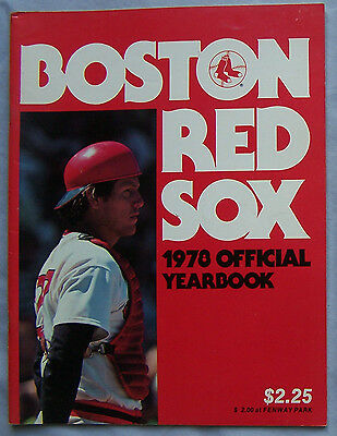 1978 Boston Red Sox Yearbook Carlton Fisk