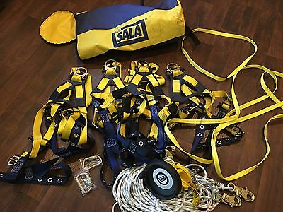 Repelling/ Safety Gear By DBI Sala And 4 Safety Harnesses, D Rings And More