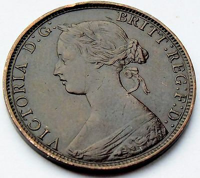 1862 Great Britain Queen Victoria Half Penny Coin