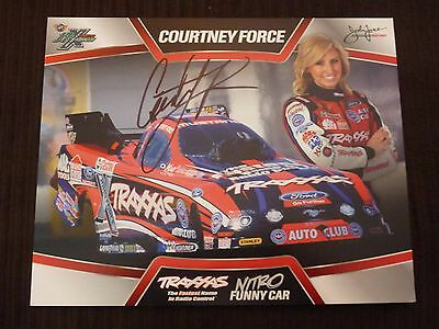 Courtney Force NHRA Signed Traxx Funny Car 8x10 Photo in Black Sharpie