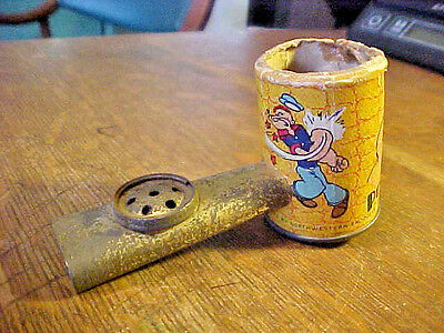 "VINTAGE Popeye 1934""King Features Syndicate""Musical Toy Tin Corn Cob Pipe Kazoo."