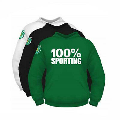 """Sporting CP Men's Hoodie """"100% Sporting"""" *Official Product Licensed"""