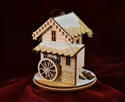 Ginger Cottage GC110 Grist Mill Hand Made USA America NIB Ornament Village