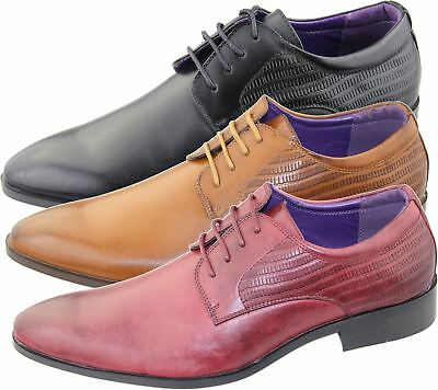 Mens Brogues Shoes Office Casual Wedding Formal Smart Dress Shoes New Size
