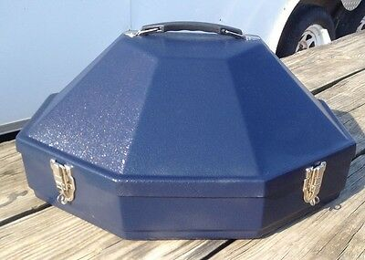 Hammer Plastics Navy blue hardshell Classic hat can //carrier US made