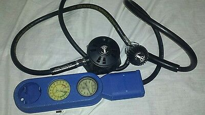 U.s. Divers Conshelf 21 Octopus Scuba Diving Regulator With Gauges