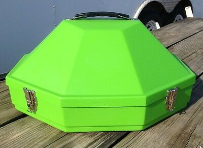 Hammer Plastics lime green hardshell Classic hat can //carrier US made