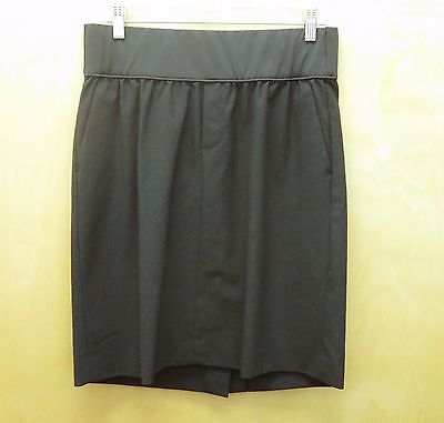 GAP MATERNITY 6 Charcoal Gray Two Pocket Stretch Skirt