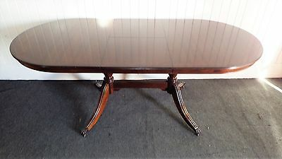 Antique style Regency pedestal pull out dining or kitchen table - 6 - 8 seater