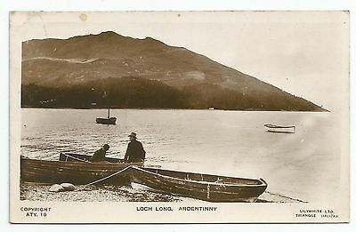 POSTCARD-SCOTLAND-LOCH LONG-RP. The Shore at Ardentinny.