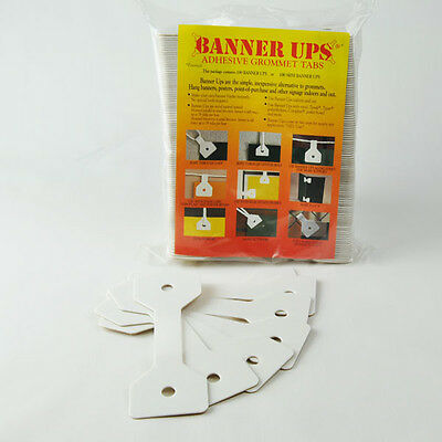 Banner Ups Adhesive Corner Tabs- 100 Per Pack - No Tools Required