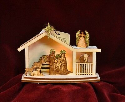 Ginger Cottage GC122 Nativity Hand Made USA America NIB Ornament Village