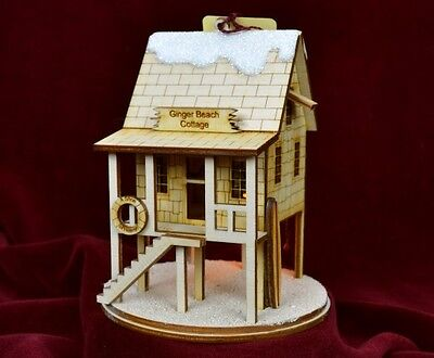 Ginger Cottage GCC103 Beach Cottage Hand Made USA America NIB Ornament Village
